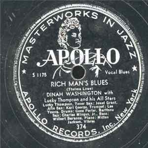 Dinah Washington With Lucky Thompson And His All Stars - Rich Man's Blues / Walking Blues FLAC